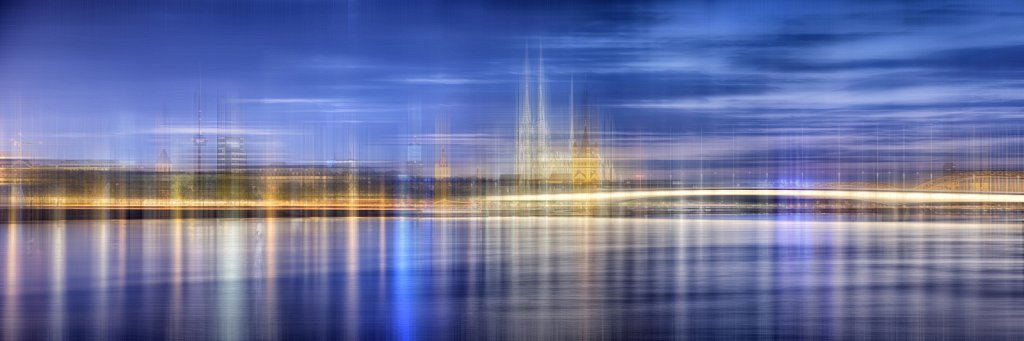 Move It - Köln -Panorama blau